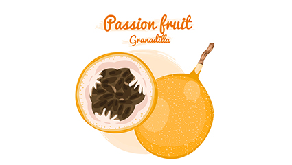 La passion jaune vecteur mat��riel de fruits