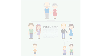 Famille Vector cartoon de conception d