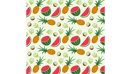 ananas de fruits tropicaux et de la past��que fond transparent vecteur mat��riel