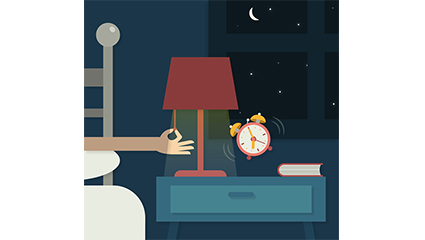 Alarme de nuit vecteur mat��riel illustrateur