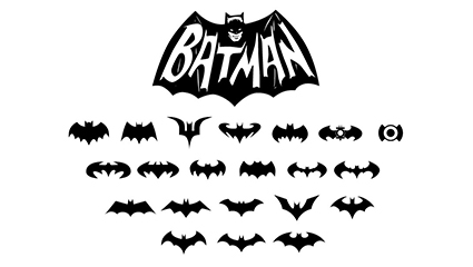 21 Batman BATMAN logo vecteur