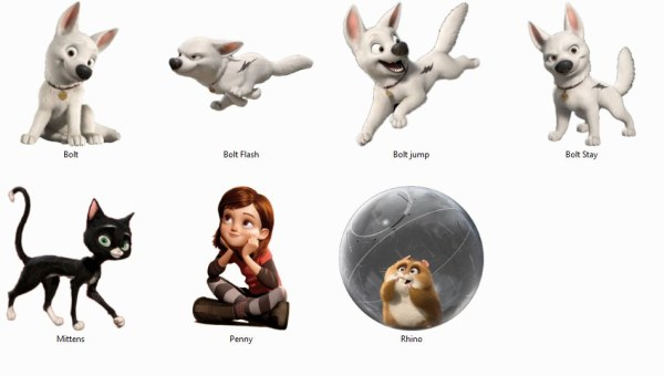 Cartoon animaux, chien, chat ico
