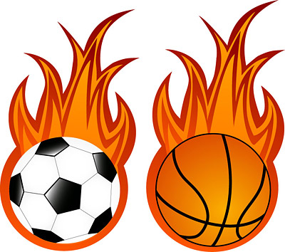 Le football et le basket-ball vecteur de flamme
