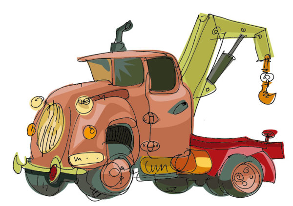 Peints main cartoon voiture 04 - vecteur
