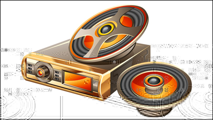 Vecteur mat��riel Car audio -2