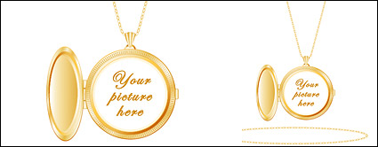 Gold photo pendentifs