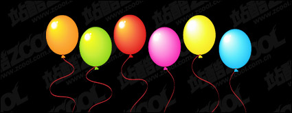 Colorful ballons vecteur mat��riel