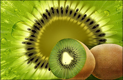 Fruits - kiwis psd couches mat��riau